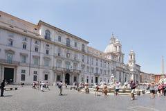 Sant Agnese w Agone kościół w antycznym piazza Navona Zdjęcie Stock