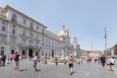 Sant Agnese w Agone kościół w antycznym piazza Navona Obrazy Royalty Free