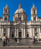 Sant'Agnese w Agone kościół w Rzym Zdjęcia Royalty Free