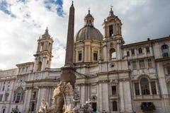 Sant'Agnese w Agone przy piazza Navona Obrazy Royalty Free