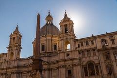 Sant Agnese w Agone w piazza Navona Obraz Royalty Free