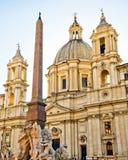 sant'Agnese w Agone w Rzym Obraz Stock