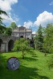 Sant ` Agostino brama Przez od Noca, Bergamo - Zdjęcia Royalty Free