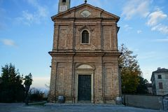 Church of Sant`Agostino in Monforte d`Alba, Piedmont - Italy Royalty Free Stock Images