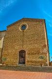 Sant'Agostino church in San Gimignano Stock Photo