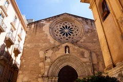 Sant Agostino church and saturno Royalty Free Stock Image