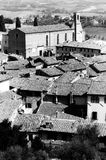 Sant Agostino kościół przy San Gimignano BW Zdjęcie Stock