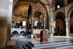 Sant'ambrogio教会米兰,米兰expo2015 免版税库存照片