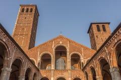 Sant'Ambrogio,米兰,伦巴第,北意大利大教堂  免版税库存照片