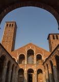 Sant'Ambrogio,米兰,伦巴第,北意大利大教堂  免版税库存图片