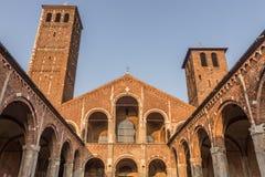 Sant ` Ambrogio,米兰,伦巴第,北意大利大教堂  免版税库存照片