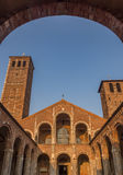 Sant ` Ambrogio,米兰,伦巴第,北意大利大教堂  库存照片