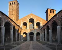 Sant'ambrogio basilica stock photo