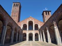 Sant Ambrogio church, Milan Stock Photos