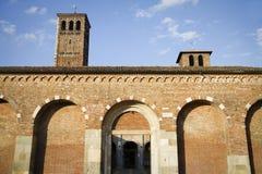 Sant'ambrogio church, milan Stock Photos