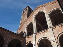 Sant Ambrogio church in Milan Stock Image