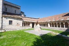 Sant Ambrogio di Valpolicella medieval church cloister, Italy. Valpolicella area landmark gargagnago giorgio santambrogio valley ancient architecture blue stock photos