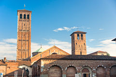 Sant'Ambrogio, Milan, italy. Royalty Free Stock Images