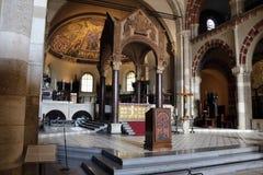 Sant'ambrogiokerk Milaan, Milaan expo2015 Royalty-vrije Stock Foto's