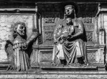 Sant`Anastasia outdoor, detail, Verona, Italy royalty free stock photos