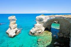 Sant Andrea, Apulien - Genießen der idyllischen Landschaft um Sant lizenzfreies stockbild