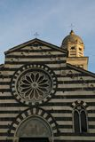Detail of Sant`Andrea church in Levanto. Liguria, Italy. Stock Photography
