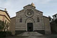 Sant`Andrea church in Levanto. Liguria, Italy. Stock Images
