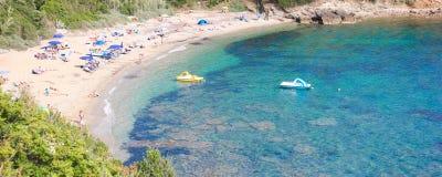 Sant Andrea Cove, Elba ö, Italien Fotografering för Bildbyråer