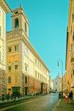 Sant Andrea della Valle Church i Corso del Rinascimento Street Royaltyfri Bild