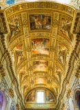 Basilica of Sant`Andrea della Valle in Rome, Italy. Sant`Andrea della Valle is a minor basilica in the rione of Sant`Eustachio of the city of Rome, Italy. The Royalty Free Stock Photos