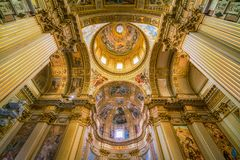 Dome in the Basilica of Sant`Andrea della Valle. Rome, Italy. royalty free stock photography