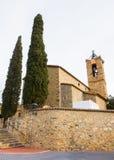 Sant Andreu de Samalus罗马式教会 免版税库存照片