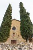 Sant Andreu de Samalus罗马式教会 库存照片