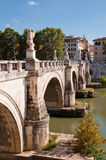 Sant Angello bridge and Tevere river at Rome Stock Photos