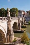 Sant Angello bridge and Tevere river at Rome. Italy Stock Photos