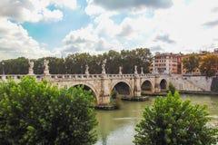 Sant`Angelo Bridge royalty free stock photos