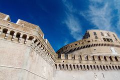 Sant' Angelo Bridge and Castle Sant Angelo Royalty Free Stock Photo