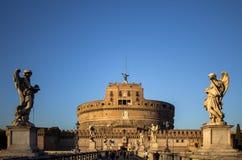 Sant ` Angelo Bridge och Sant ` Angelo Castel, Rome Royaltyfria Bilder