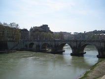 sant-angelo-bridge-over-travere Royalty Free Stock Photos