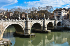 Sant Angelo Bridge Ponte Sant Angelo fotografía de archivo