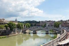 Sant Angelo Bridge, Rom Stockbilder