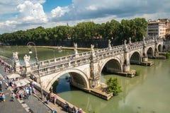 Sant Angelo Bridge, Rom Lizenzfreies Stockbild