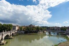 Sant Angelo Bridge, Rom Stockfotografie