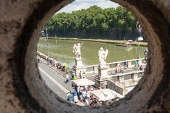 Sant Angelo Bridge, Rom Stockfoto