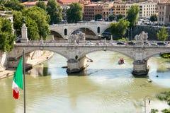 Sant Angelo Bridge, Rom Stockfotos