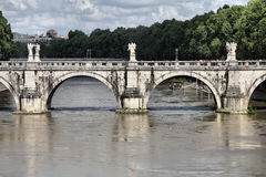 Sant Angelo Bridge, Rome Stock Photo