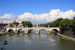 Sant'Angelo bridge, Rome Royalty Free Stock Images