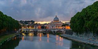 Sant Angelo bridge Rome Stock Photo
