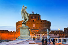 Sant' Angelo Bridge, Rome, Italy Stock Photography