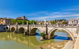 Sant'Angelo bridge in Rome, Italy Royalty Free Stock Images